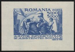 Rumänien 1947 - Mi-Nr. Block 36 ** - MNH - Sozialer Hilfsfonds - Nuovi