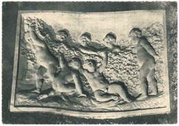 """CPSM 51 (Marne) Reims - Champagne Pommery & Greno - """"Jeunes Maraudeurs"""", Bas-relief Sculpté Dans La Craie - Reclame"""