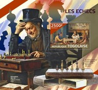 TOGO 2014 SHEET CHESS AJEDREZ XADREZ ECHECS SCHACHS SCACCHI Tg14423b - Togo (1960-...)