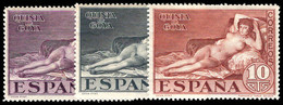 Spain 1930 The Naked Maja Values Lightly Mounted Mint. - Ungebraucht