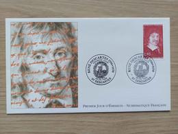 FDC N°2995 : 400 ème Anniversaire De La Naissance De René Descartes (1596-1650). - 1990-1999