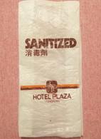 Old Pvc Sanitized Bag Hotel Plaza Hongkong Hong Kong - Pubblicitari