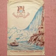 Old Paper Bag With Map Niagara Parks Falls Ontario Canada Cca 1950's - Pubblicitari