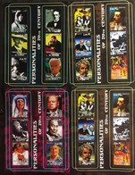 Rep. DEM. CONGO : 4 Sheets  PERSONALITIES OF THE 20th CENTURY //  LOT 3 - Used