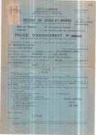 Dépt 77 - FAREMOUTIERS - Police D'abonnement EST-LUMIÈRE Mr BOURGEOIS (4 Lampes, 1 Prise) - 31 Décembre 1942 - Faremoutiers