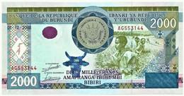 BURUNDI - 2000 FRANCS - 01/12/2008 - Pick 47 - UNC. - Série AG - 2.000 - Burundi