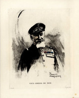 Print 1920 France Fleet French Navy Admiral Amiral Ferdinand De Bon - Prints & Engravings