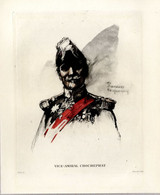 Print 1920 France Fleet French Navy Admiral Amiral Chocheprat - Prints & Engravings