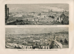 1862 Print Mexico City Puebla Architecture - Prints & Engravings