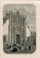 1862 Print Mexico Mexico City Church Temple Gothic Architecture - Prints & Engravings