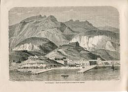 1862 Print Mexico City Guaymas Landscape Mountains - Prints & Engravings