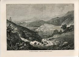 1862 Print Mexico City Guanajuato Landscape Mountains - Prints & Engravings