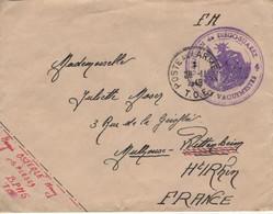 Madagascar Garnison Diégo Suarez Lettre Franchise Militaire Cachet Poste Aux Armées T.O.E 28.11.1949 - Covers & Documents