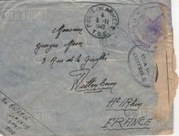 Madagascar Garnison Diégo Suarez Lettre Franchise Militaire Cachet Poste Aux Armées T.O.E Censure Visa Contrôle - Covers & Documents