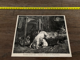 à1865 MI2 Gravure Tableau De Philippe Rousseau Chacun Pour Soi - Unclassified