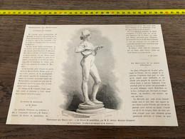 à1865 MI2 Gravure Sculpture De M E Dubois Le Joueur De Mandoline - Unclassified