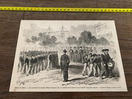 à1865 MI2 Gravure Fêtes De Brest Pupilles De La Marine Défilant - Unclassified