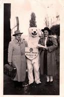 Photo Originale Eisbär, Déguisement D'Ours Blanc Polaire Posant à DLG Agrar-Messe Frankfurt à M. 1949 & Couple - Anonymous Persons
