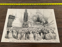 à1865 MI2 Gravure Fêtes De Brest Bal Sur Le Pont Du Vaisseau La Ville-de-Lyon - Unclassified