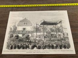 à1865 MI2 Gravure Fêtes De Paray-le-Monial Canonisation Bienheureuse Marie-Alacoque - Unclassified