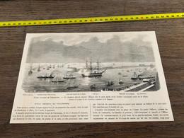 à1865 MI2 Gravure Fêtes Navales De Cherbourg Vaisseau Amiral L Edgar - Unclassified