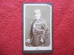 CDV OFFICIER MILITAIRE AU SABRE PHOTO GIRARD A NANTES - Guerra, Militari