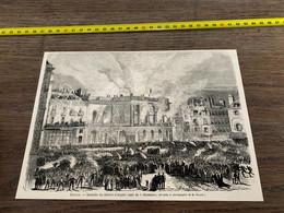 à1865 MI2 Gravure Incendie Du Théâtre D Angers - Unclassified
