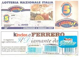 1998 £750 MONTALE SU CARTOLINA LOTTERIA NAZIONALE - Reclame