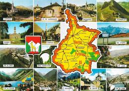 65-Carte Contour Géographique Du Département De HAUTES PYRENEES - Cartes Géographiques