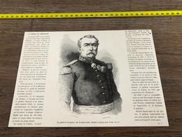 à1865 MI2 Gravure Général Christophe Léon Louis Juchault De Lamoriciere - Unclassified