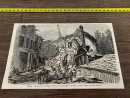 à1865 MI2 Gravure Genève Explosion à La Fabrique D Armes De La Rue Du Môle - Unclassified