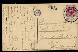 CP (St Hubert - église) Obl Ambt: Arlon- Bruxelles ( Brussel ) - 3 - De 1927 + Griffe De POIX - Linear Postmarks