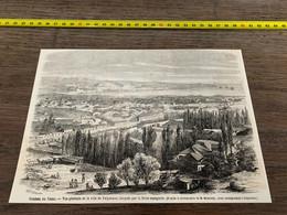 à1865 MI2 Gravure Guerre Du Chili Vue De Valparaiso - Unclassified