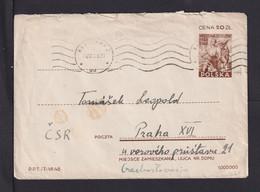 15 Zl. Ganzsache Ab Warschau Nach Prag - Covers & Documents