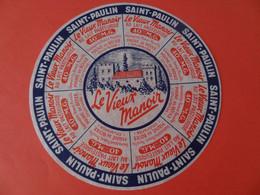 Etiquette De Saint Paulin Le Vieux Manoir Fromagerie Rivaud Maine De Boixe Charente 16 - Cheese
