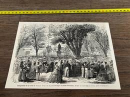 à1865 MI2 Gravure Inauguration De La Statue De François Arago Place D Estagel - Unclassified