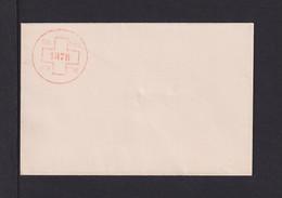 """1878 - Umschlag Mit Links Rotem Druck """"Kreuz"""" - Ungebraucht - Storia Postale"""