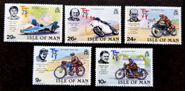 Isle Of Man 75th Anniversary Tourist Trophy Motorcycle Racing 1982 Sport Games (stamp) MNH - Isola Di Man