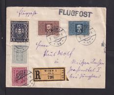1923 - 3000 Und 4800 Kr. Mit Zufrankatur Auf Flugpost-Einscheibbrief Ab Wien Nach Meissen - Covers & Documents