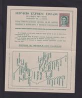 1,40 P. Express-Ganzsache Mit Aufdruck MUESTRA - Ungebraucht - Postal Stationery