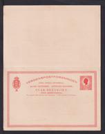 10 B. Doppel-Ganzsache - Ungebraucht - Deens West-Indië