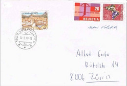 41261. Carta LES PACCOTS (suiza) Canton Friburg 1977. Tema EUROPA. Stamps No Valuable - Covers & Documents