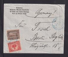 1912 - 2 Und 3 C. Auf Brief Ab Port-au-Prince Nach Berlin - Haiti