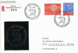 41262. Carta Certificada CHUR, Grisones (Suiza) 1967. Tema EUROPA - Covers & Documents