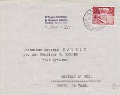 Flamme Du 1er Congrès International De L'Economie Collective Genève 28-31.V.1953 ( S.341 ) Sur Lettre 14.5 X 11.5 - Covers & Documents