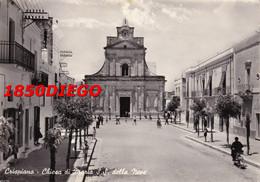 CRISPIANO - CHIESA DI MARIA S.S. DELLA NEVE F/GRANDE VIAGGIATA 1959 ANIMAZIONE - Taranto