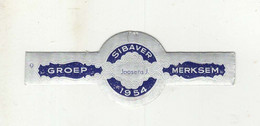 BAGUES DE CIGARES  1 EX.  GROEP MERKSEM  SIBAVER 1954 JOOSENS J. - Cigar Bands