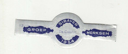 BAGUES DE CIGARES  1 EX.  GROEP MERKSEM  SIBAVER 1954 DE CROCF M. - Cigar Bands