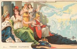 CPA - W.W.1. - VISION PATRIOTIQUE, VISION D' AVENIR - ILLUSTRATEUR - édt; Pub  Grande Pharmacie  LE MANS - TRES BON ETAT - Guerra 1914-18