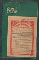"""Rare Carnet """"Chance épargne """" Année 1957 Contenant 59 Vignettes De Capitalisation ( 5 SCANS )   Ln334 - Blocks & Sheetlets & Booklets"""